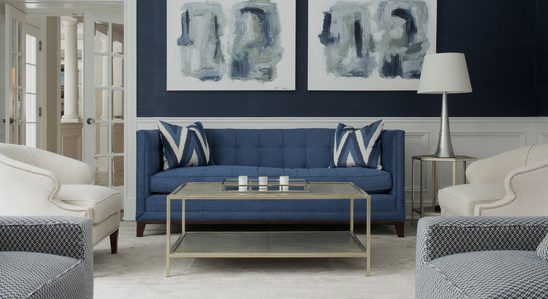Pruzakcom Sala De Estar Con Sofa Azul Idias