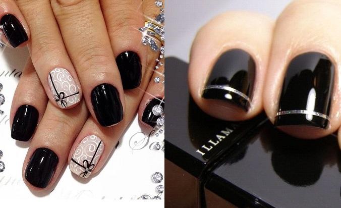 Unhas decoradas preto combinações