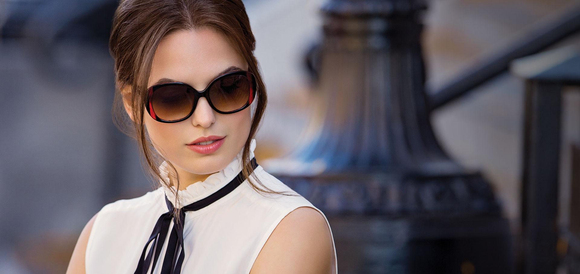 Quais Modelos de óculos de SOL que combina com rosto redondo e oval   1d654b7b61