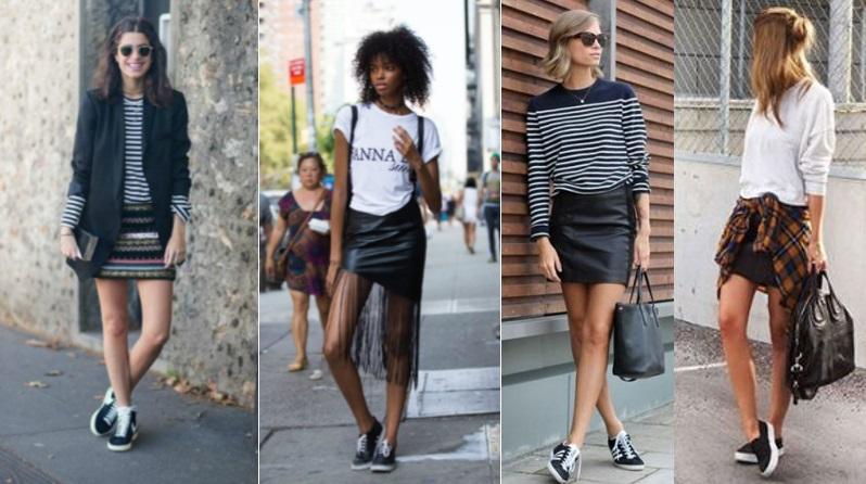a5094058c Se você gostou das nossas dicas e quer ter mais inspirações para compor  novos looks inspirados nessa nova tendência, abaixo tem alguns looks com  tênis preto ...